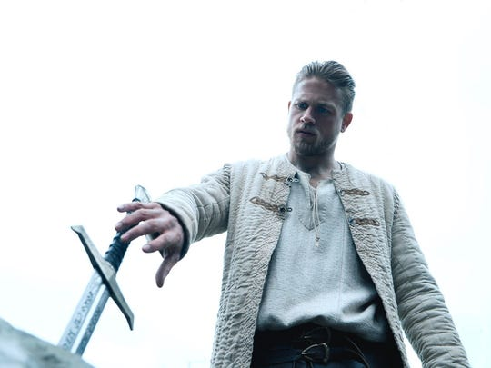 "Charlie Hunnam in a scene from ""King Arthur: Legend of the Sword."""