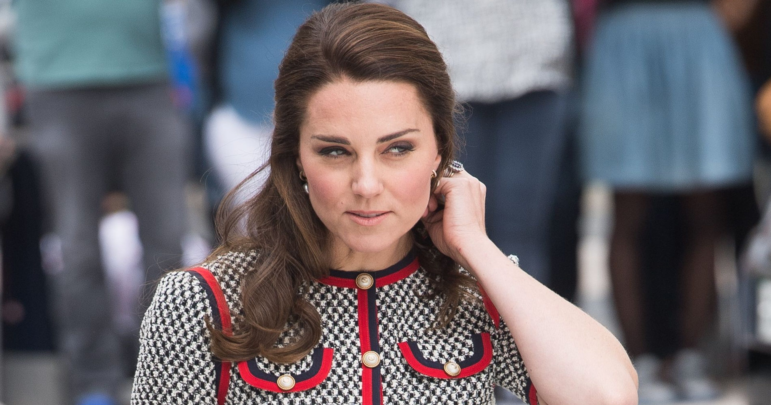 892263669ec8 Duchess Kate switches things up with Gucci minidress