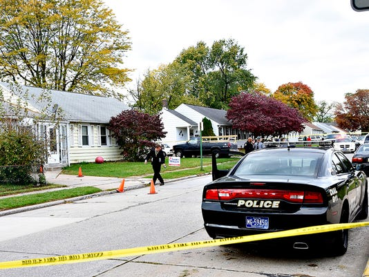 State officials investigate the scene of a York Police officer-involved shooting that happened in the 1000 block of Kelly Drive in York, Pa. on Saturday, Oct. 17, 2015.  Dawn J. Sagert - dsagert@yorkdispatch.com