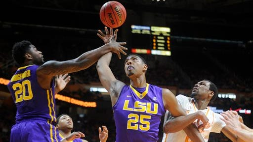 The LSU Tigers play N.C. State  in the NCAA Tournament.