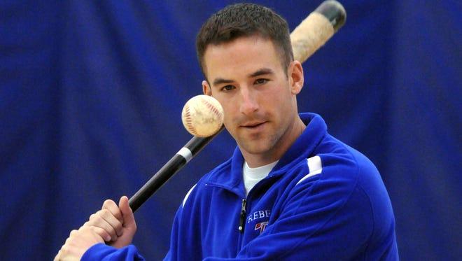 Keith Hatfield in 2010, when he was Roncalli baseball coach.