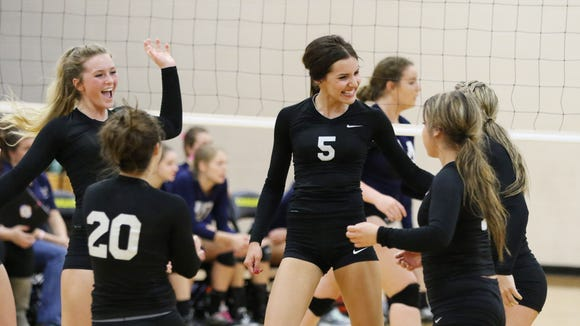 Cascade's Alyssa St. Peter (5) was among three Cougars who were first-team all-Oregon West Conference.