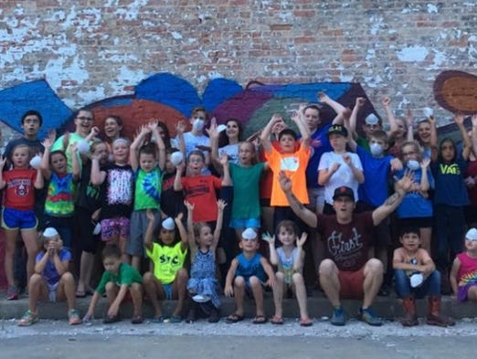 Bangert street art takes flight in rural indiana for Creation mural kids