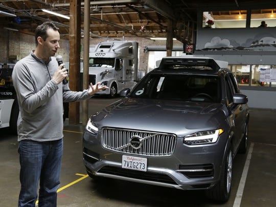 In this Dec. 13, 2016, file photo, Anthony Levandowski,