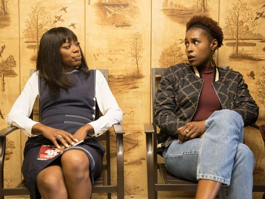 Yvonne Orji as Molly and Issa Rae as Issa on 'Insecure.'