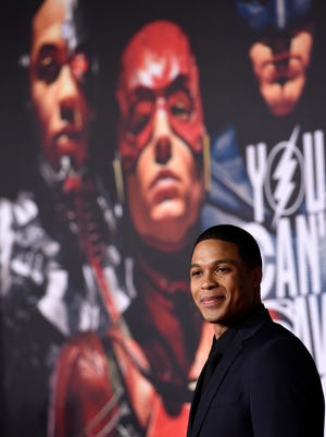 "Ray Fisher is Cyborg in the new feature film ""Justice League."""