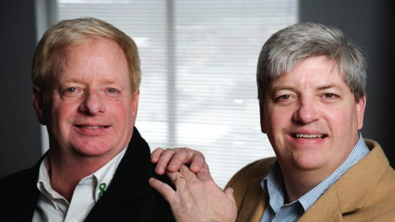 """Tom Cooper, left, received a kidney from his brother Ed in 1979. Tom Cooper wrote about the experience in """"Miracle at Exit Number 3."""""""