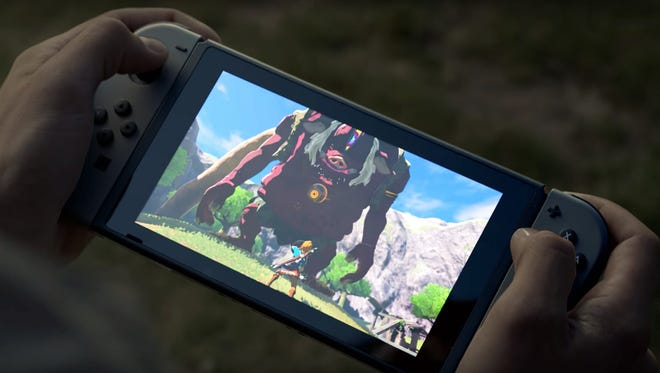 The Nintendo Switch in portable mode.