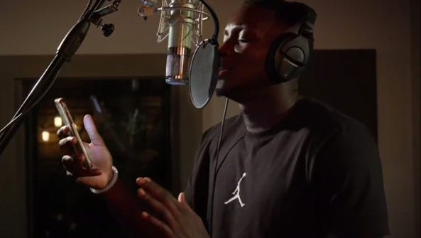 Victor Oladipo impressed with his singing skills.