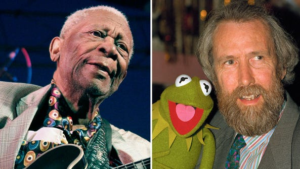 B.B. King (left) and Jim Henson