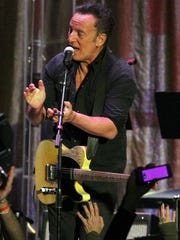 Bruce Springsteen at the Light of Day Winterfest 2015 Main Event Saturday, Jan 17, at the Paramount Theatre in Asbury Park.