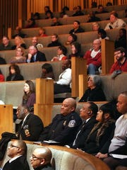 The audience for Rev. Dr. Jeremiah A. Wright Jr.'s