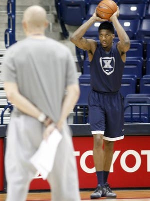 Jalen Reynolds is heading to California with Xavier while the university investigates a complaint about him, filed by another student.