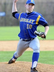 Ardsley's Brendan McNerney throws a pitch in a 6-1