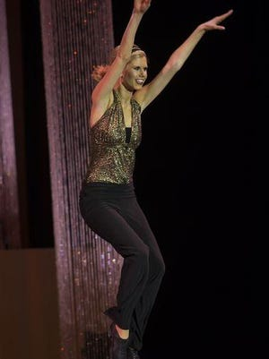Miss Oshkosh MeKenzie Lund competes in the talent contest of the Miss Wisconsin Scholarship Pageant on Wednesday, June 17.