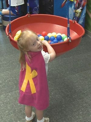 Disguised as 4-year-old Kennedy Meyerhoff, she fights a never ending battle to stay healthy.