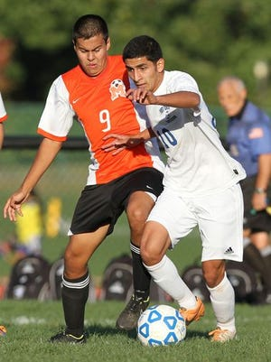 Mamaroneck defeated Port Chester 2-1 during a boys soccer game at Port Chester High School Oct. 8, 2014.
