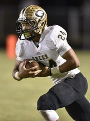 Adrian McGee leads Greer in rushing and all-purpose yards, and he's tied with Dorian Lindsey for the lead in interceptions.