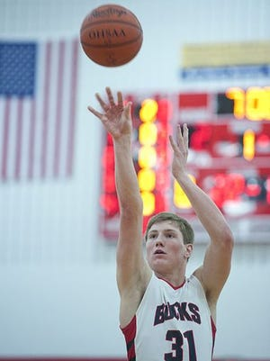 Grant Loy takes a shot last season for Buckeye Central. The Bucks were voted tied for second in the N10 preseason poll.