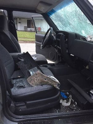Interior damage to a car lent to Elaine Haliburton.