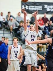 Rumson-Fair Haven's Brendan Barry takes a shot against