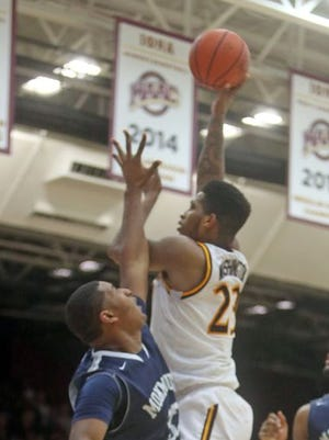 Iona forward Jordan Washington was suspended two games for his involvement in a postgame altercation with Monmouth. Monmouth defeated Iona 110-102 in a MAAC conference game at Iona College Jan. 15, 2016.