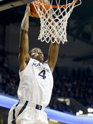 Xavier point guard Edmond Sumner on Monday was named Big East freshman of the week for the fourth time this season while teammate Trevon Bluiett earned a place on the five-player honor roll.
