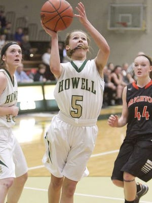 Alexis Miller shined at the Howell girls basketball team beat Hartland in the opening round of districts, 38-35.