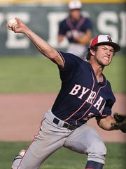Byram Hills' Frankie Vesuvio is one of at least five pitchers in New York's Section 1 who have reportedly hit 90 mph this year.