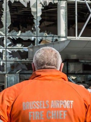 Brussels, Belgium attacks aftermath.