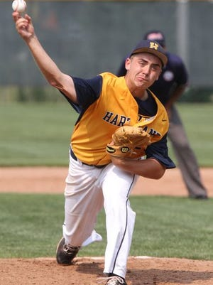 Hartland's John Baker struck out 12 Lakeland batters and gave up just one unearned run to lead the Eagles to an 11-1 win over Lakeland on Saturday.