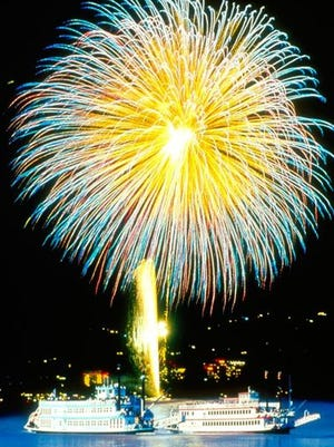 Bordering both California and Nevada, South Lake Tahoe expects more than 100,000 spectators for its 25-minute LIghts on the Lake Fireworks show.