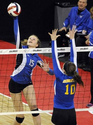 Katie Zelinski, left, is a reason why Merrill is in the WIAA state girls volleyball tournament for the second time in three years.
