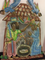 An artist from Haiti made this Nativity scene using a 55-gallon drum.