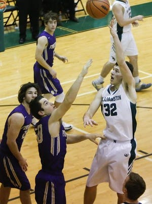 Williamston sophomore Sean Cobb (32) was one of the top performers from Friday.