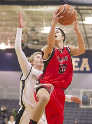Kolton Pavlicek (22) scored 14 points in a loss against Northville on Tuesday.