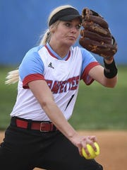 Union County's Evyn Hendrickson pitches against Webster