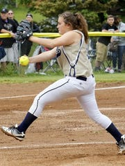 Izzy Milazzo's pitching helped Elmira Notre Dame to