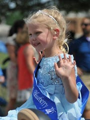 """Pageants will be held Aug. 17 and 18 to crown blueberry royalty from """"Baby Miss"""" to """"Miss Teen."""""""