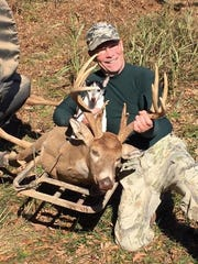 Deer hunting season in Tennessee opens Sept. 28. Jeff Neely from Gallatin shows off a 13-point buck he killed in 2017-18.