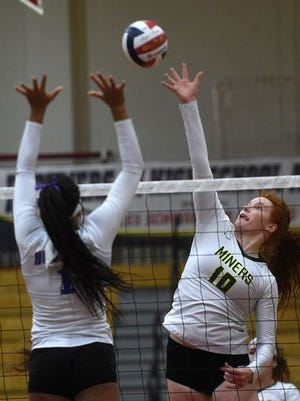 Bishop Manogue won the Northern 4A volleyball title on Saturday, 3-2 over Reno.