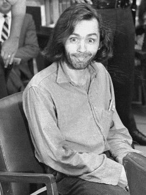 Charles Manson in court at Santa Monica, Calif.
