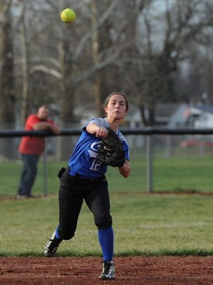 Chillicothe's Audrey Corzine throws a runner out from her shortstop position last season. Corzine and the Cavaliers are expected to compete for a Frontier Athletic Conference title.