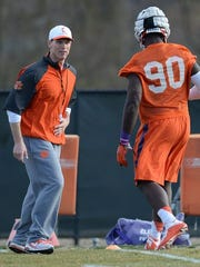 Clemson defensive coordinator Brent Venables works