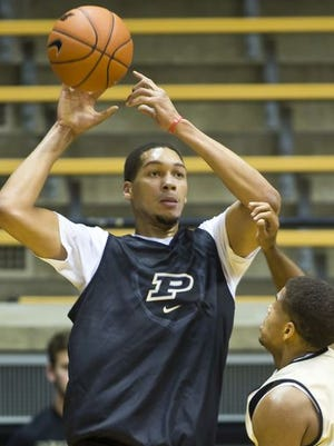 Purdue junior A.J. Hammons looked good in the Boilers' scrimmage Saturday.