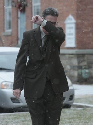 Michael Ware of Pleasantville arrived at a courthouse in Pennsylvania for a January court date.