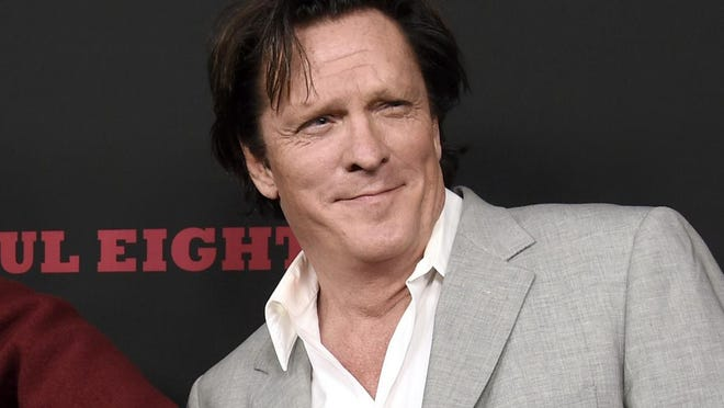 "This Dec. 7, 2015 file photo shows actor Michael Madsen at the premiere of ""The Hateful Eight"" in Los Angeles. Police have arrested Madsen after they say he was stopped while driving under the influence."