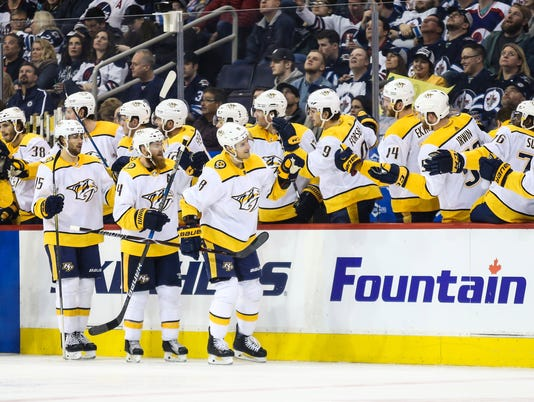 NHL: Nashville Predators at Winnipeg Jets