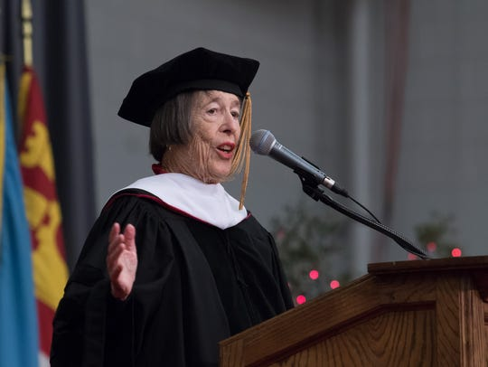 Marilyn Link receives an honorary doctorate at Florida