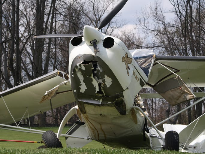 A single-engine plane landed late Saturday morning on the 17th hole of the golf course at the Stillmeadow Country Club at 1 Stillmeadow Drive, south of Batavia. The pilot and his wife were unharmed. The hole was closed for the day.